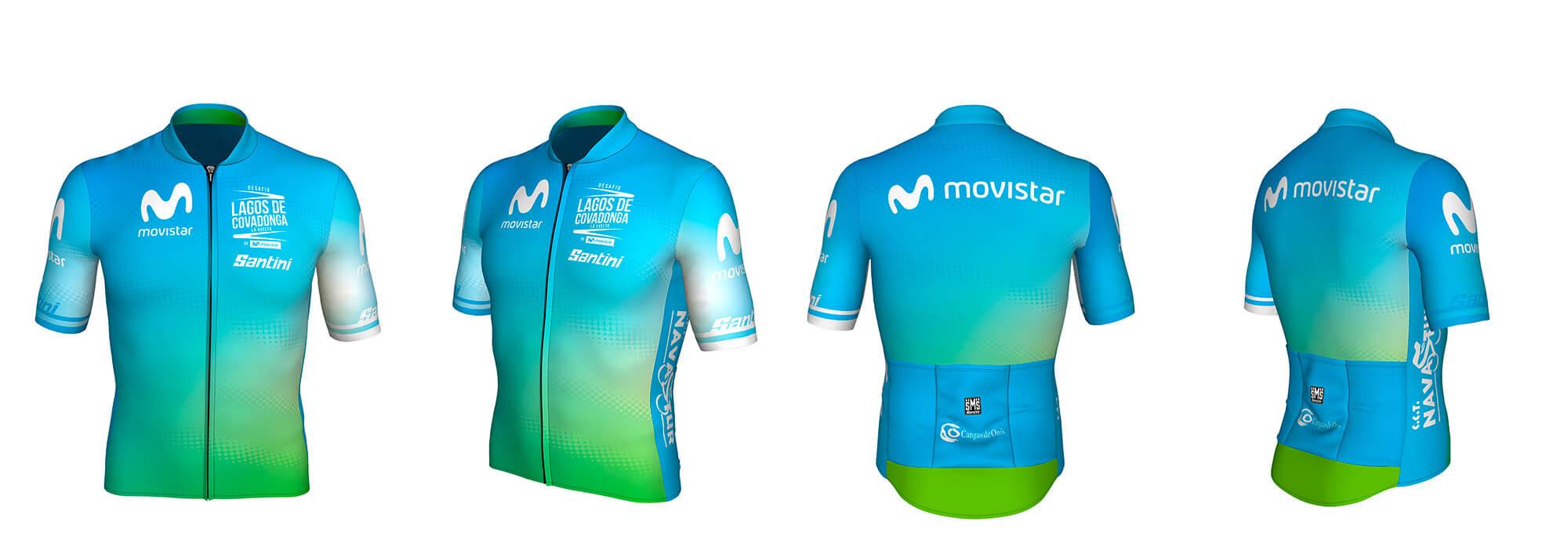 Equipación oficial Desafío Lagos de Covadonga by Movistar 2020